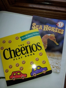 Eli got the Cheerios book and Ben picked out one on Sea Horses.