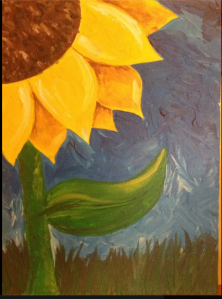 This is the sunflower for the painting party....