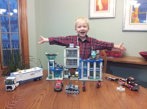 Ben finished putting together his birthday gift!