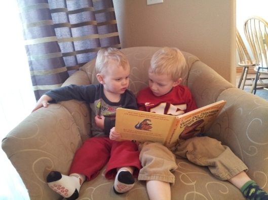 """We're having a good time reading together,"" Said Ben. This is how a mother's heart melts..."